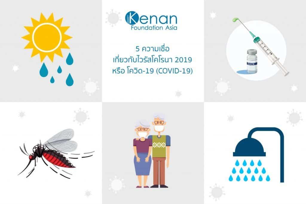 5 ความเชื่อเกี่ยวกับไวรัสโคโรนา 2019 หรือ โควิด-19 (COVID-19) 1