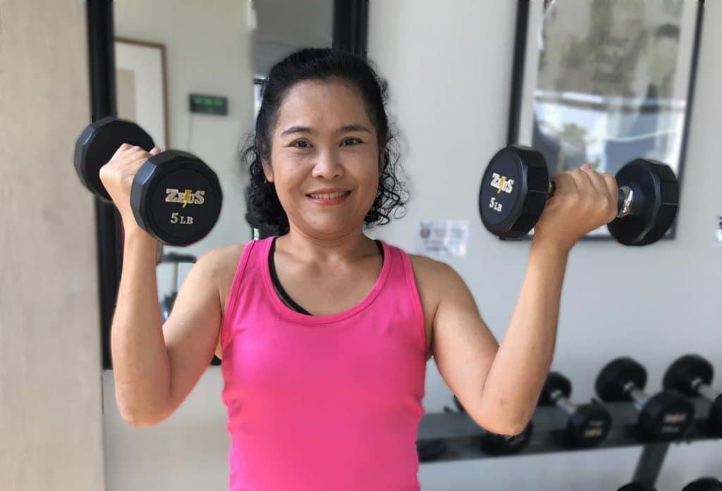 elderly thai woman fitness