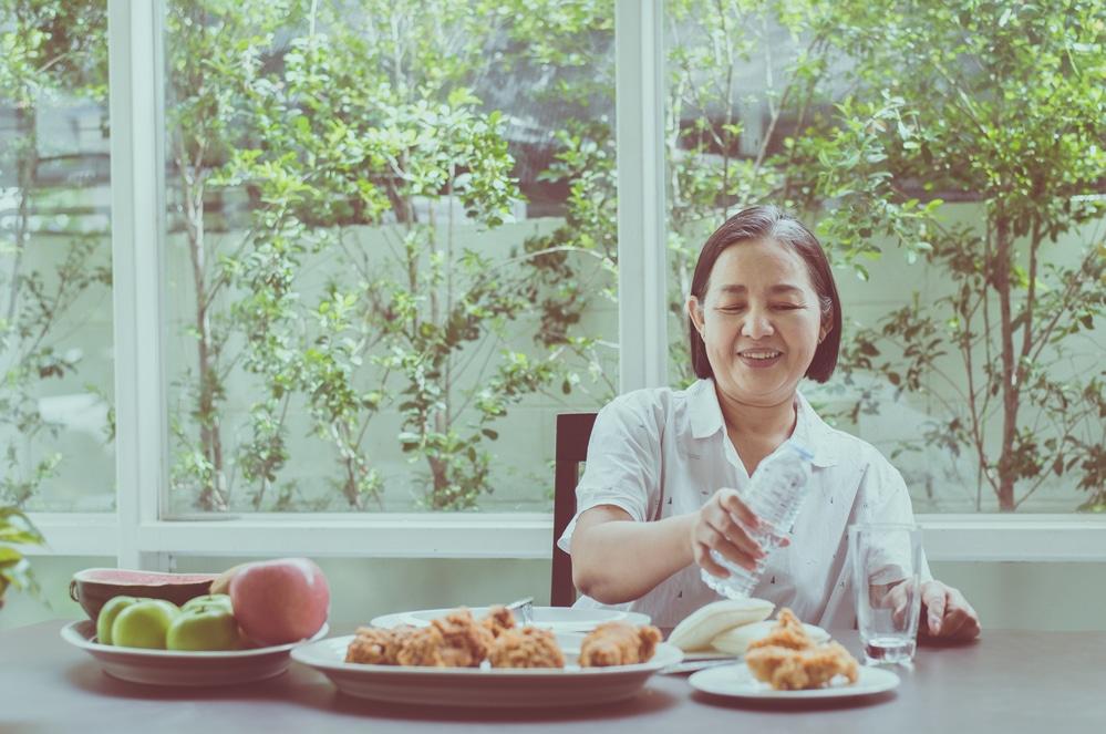 Senior Thai woman healthy